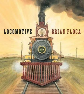 Locomotive, written and illustrated by Brian Floca. Provo City Librarian pick.