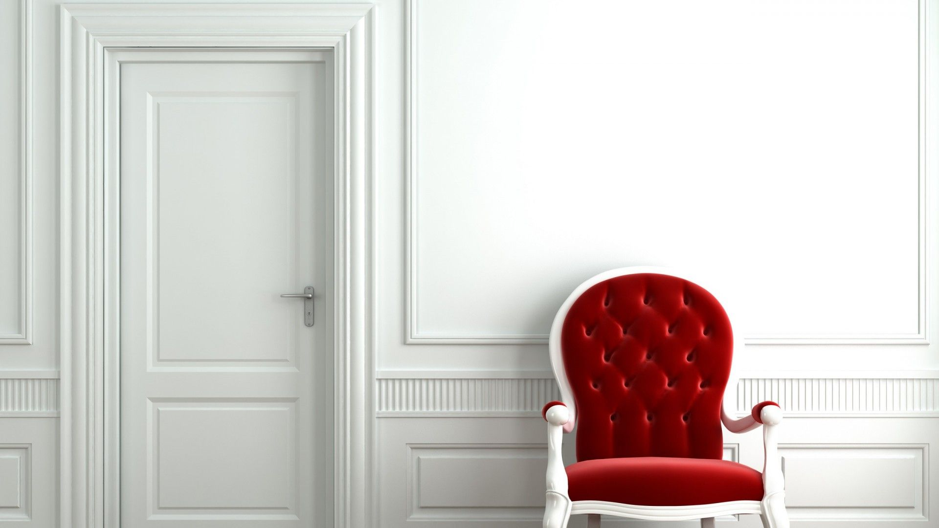 Red Chair White Room hd Wallpaperd daas Pinterest
