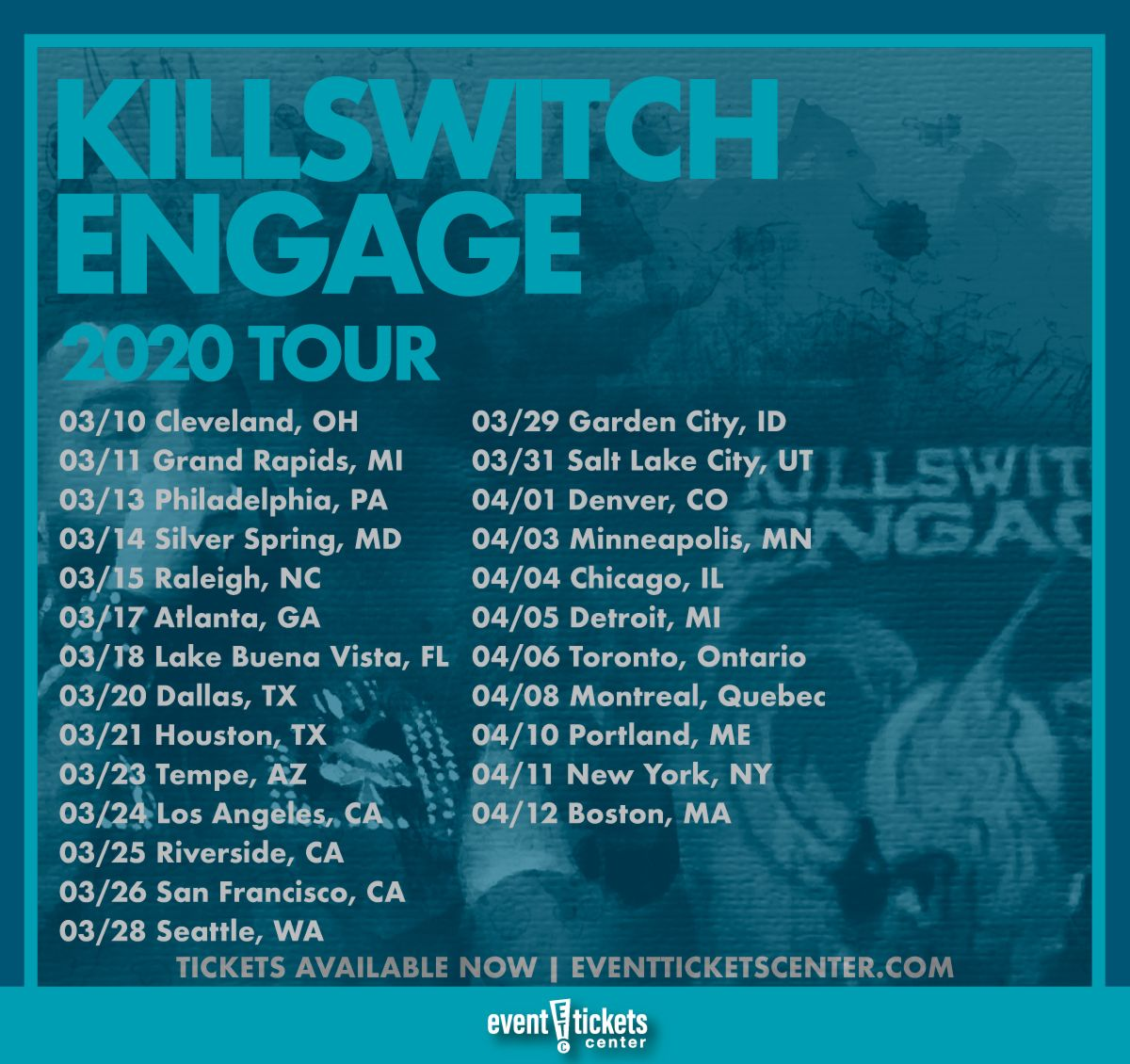 Salt Lake City Spring: Killswitch Engage Are Gearing Up To Hit The Road Alongside