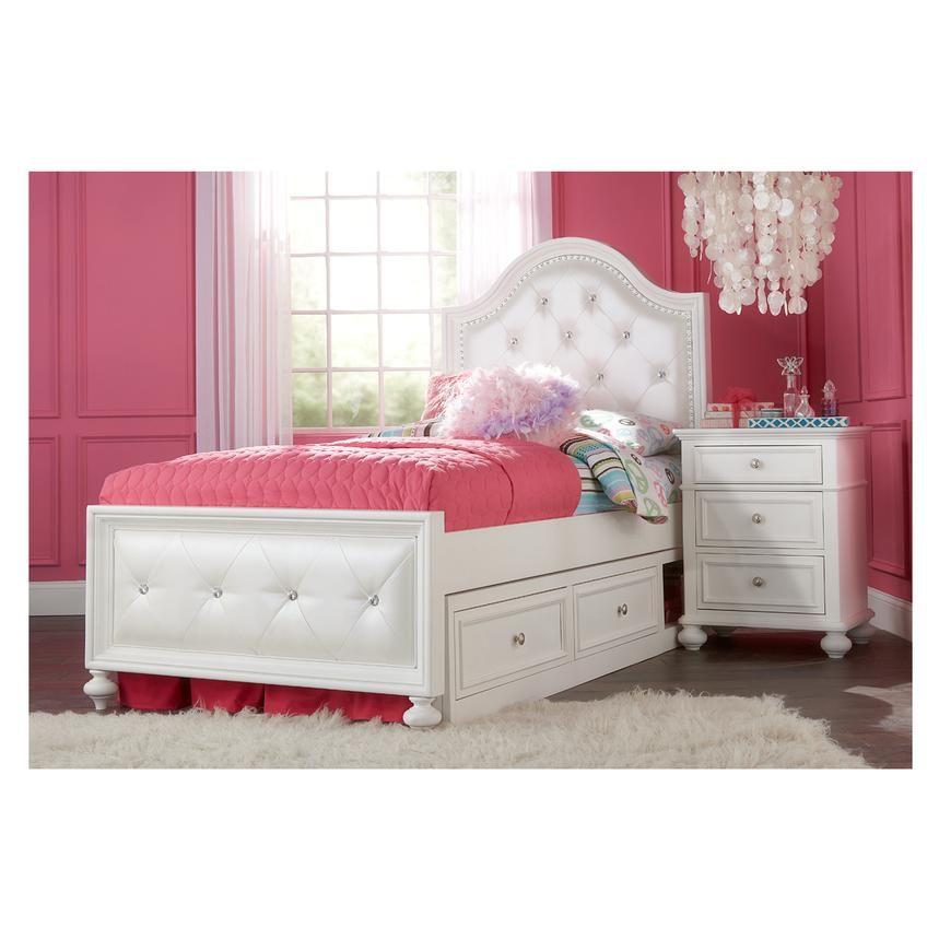 Kailee White Full Bed | El Dorado Furniture | pink | Pinterest ...
