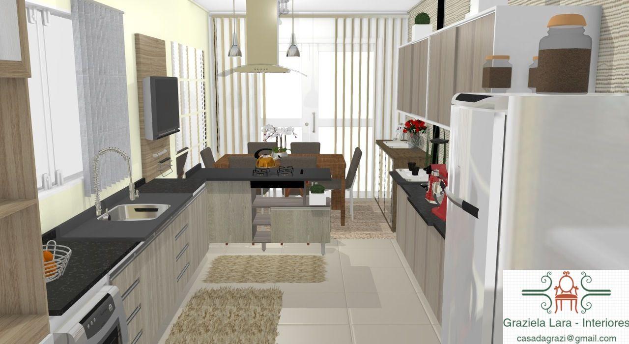 Consultoria De Decora O Cozinha E Sala De Jantar Integrada Com  -> Minha Sala E Cozinha