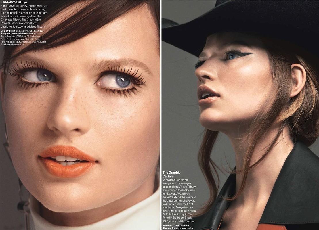 Retro liner love. Model: Bette Frank Makeup: Charlotte Tilbury Photo: Cedric Buchet