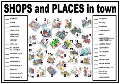 My Esl World Worksheet Places In Town Escola Pinterest Esl