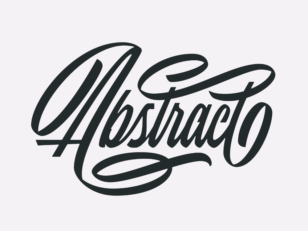 Abstract Script in 2020 Lettering design, Hand lettering