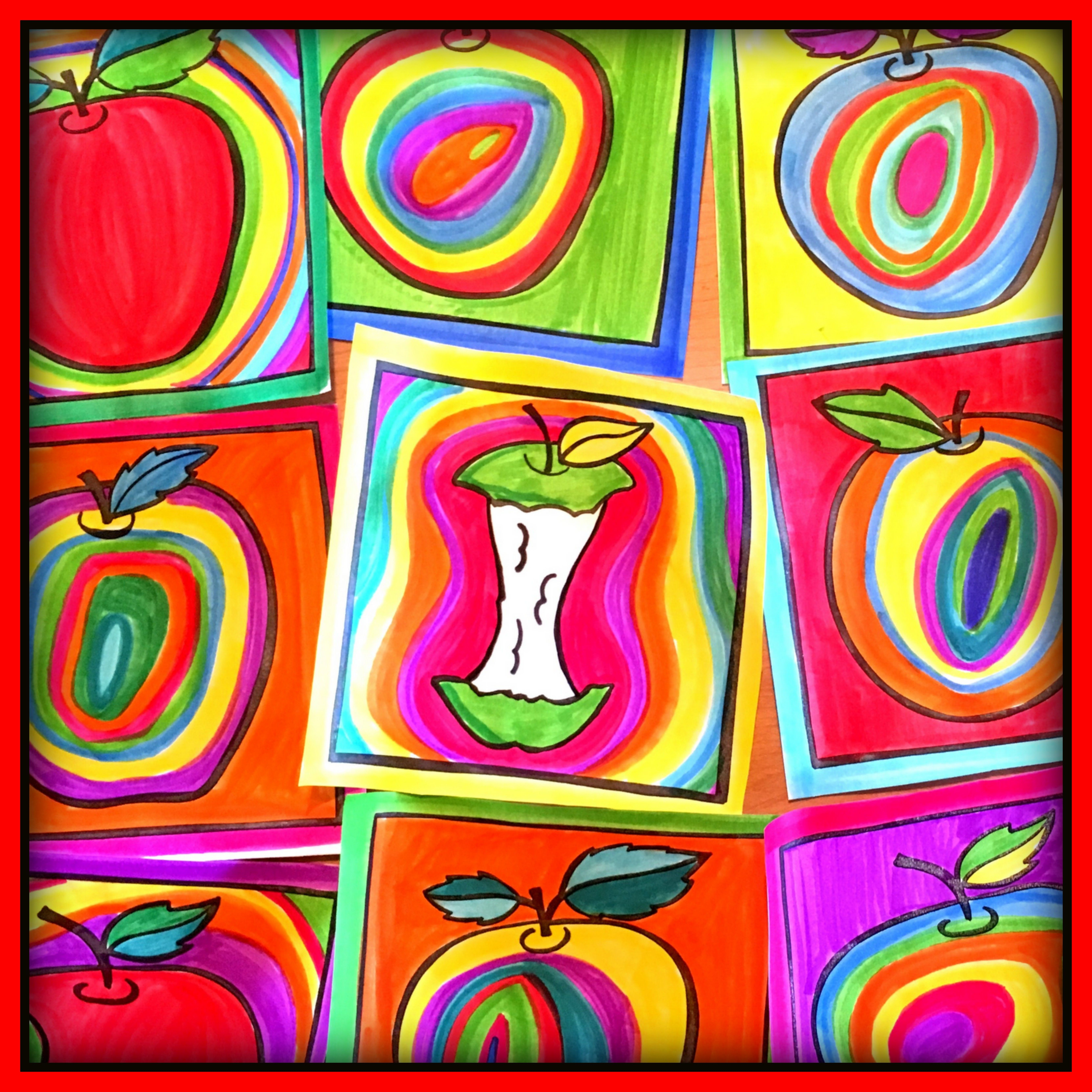 Here Is The Perfect Project For The Start Of The School Year Kandi Apples This Project Will Allow Stu Apple Art Projects Fall Art Projects Back To School Art
