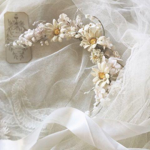 オールドローズとピンクアナベル 2020 花柄デザイン ウェディングヘアアクセサリー アクセサリー 作り