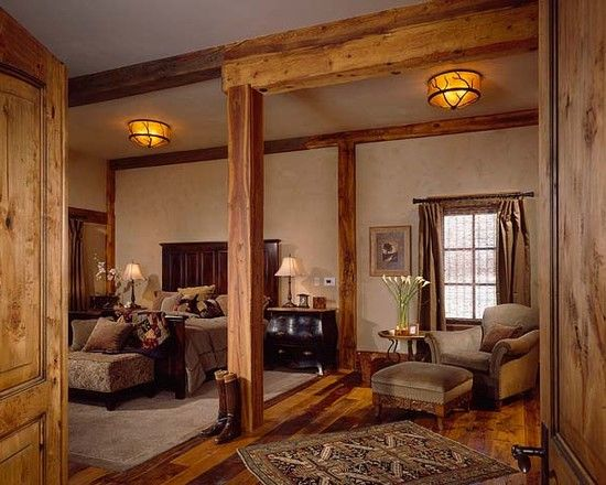 Interior Wood Columns Photo With