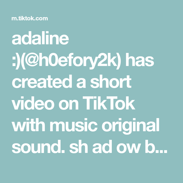 Adaline H0efory2k Has Created A Short Video On Tiktok With Music Original Sound Sh Ad Ow Ba Nn Ed From My Username The Originals Learn Korean Bts Quotes