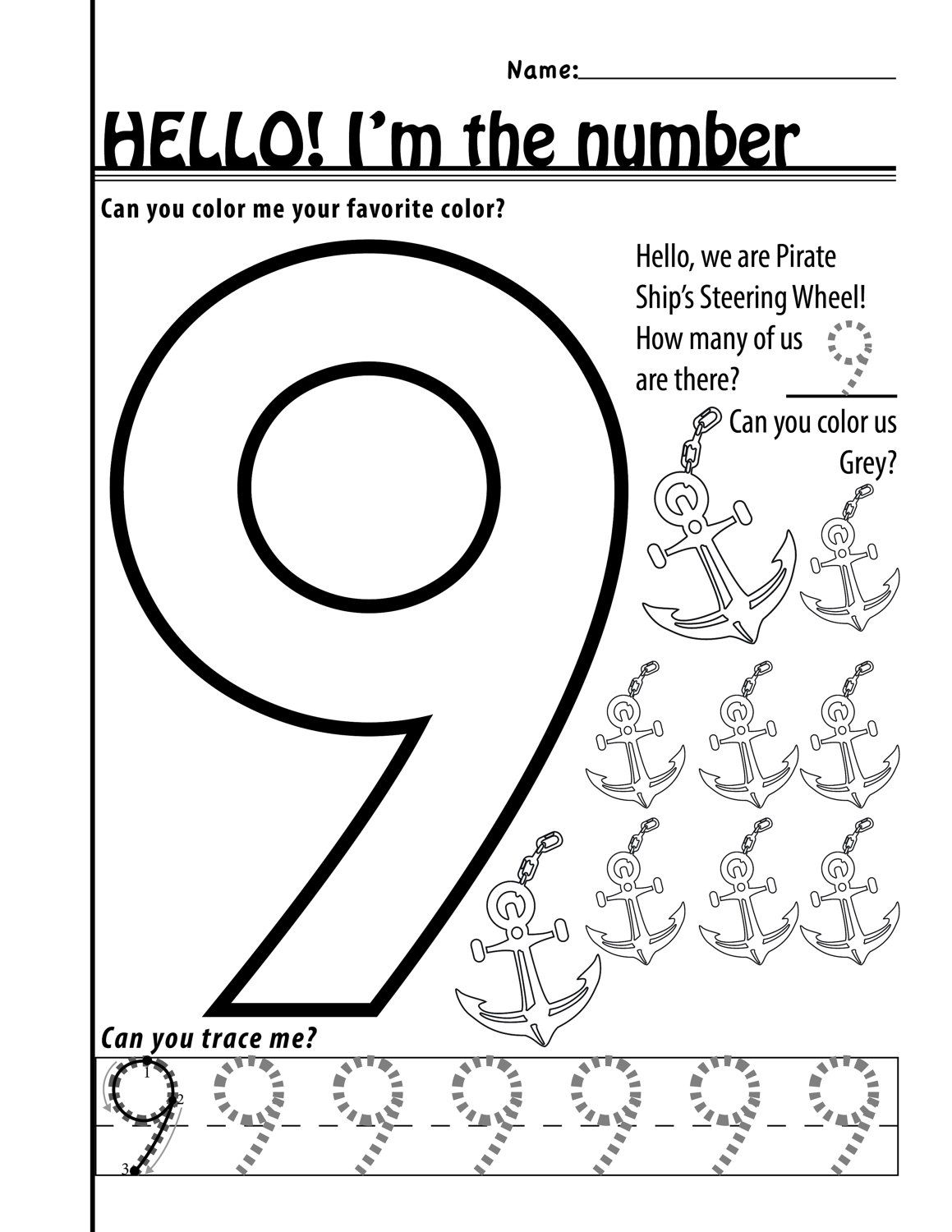Number 9 Worksheets 11 Pages By Designsbylizperkins On