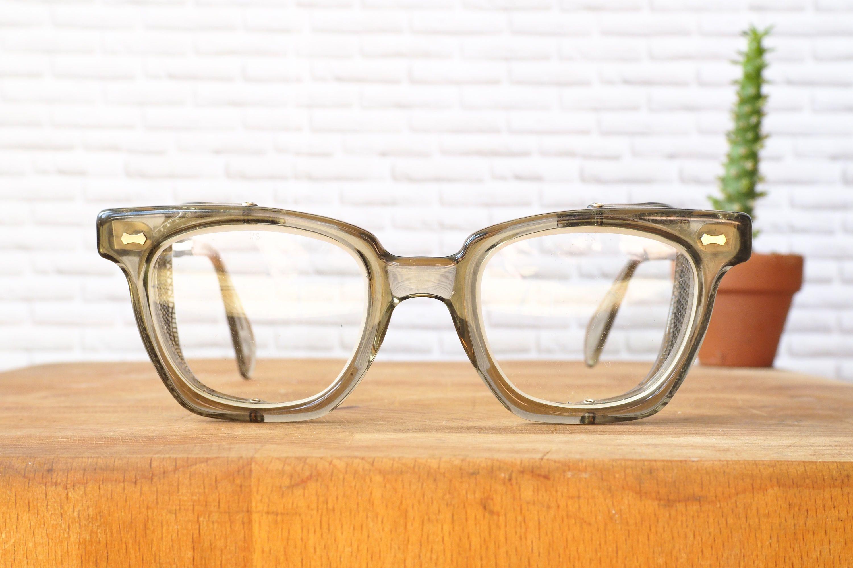 Vintage Eyeglasses 1970's Safety Glasses With Side Shield
