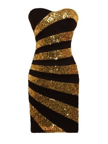 Gold Sequined With Images Strapless Dress Formal Gold Formal