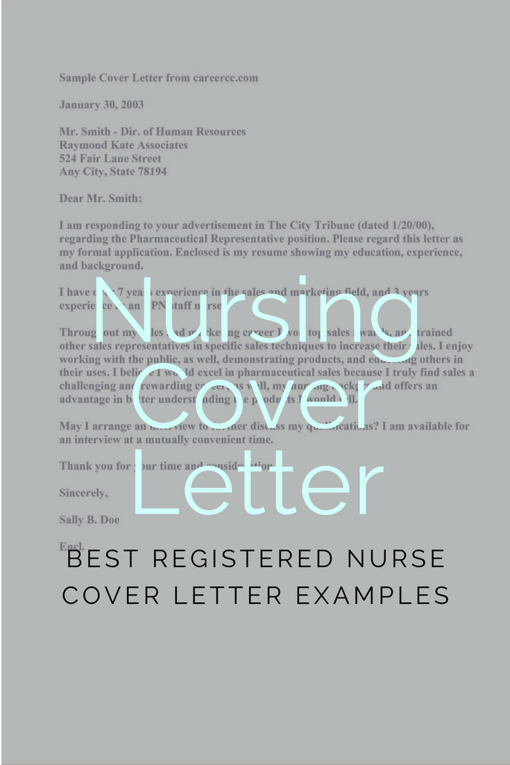 Nurse Cover Letters Enchanting Sample Nursing Cover Letter For Fresher And Experienced  Millennial .
