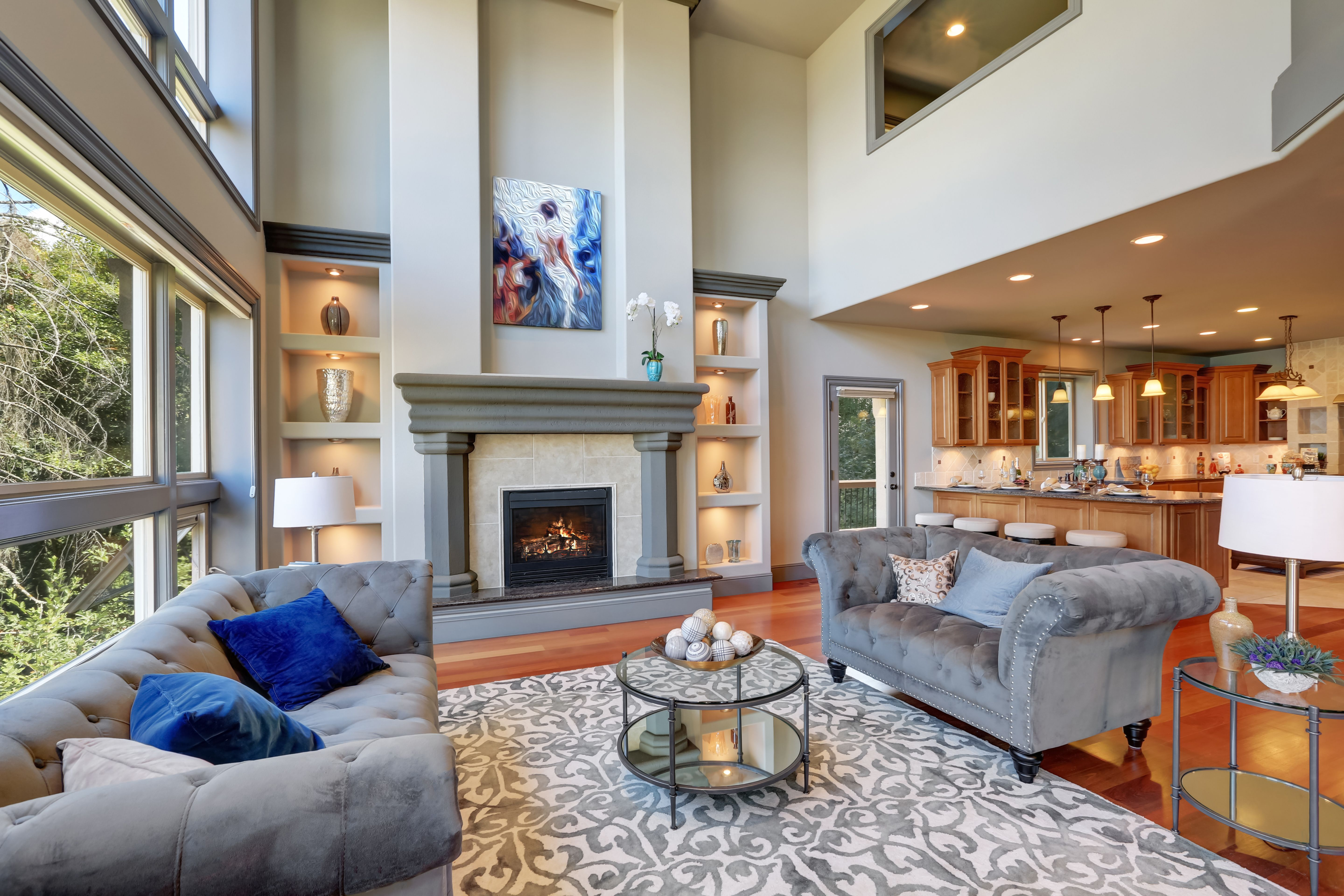 The Benefits Of Hiring An Interior Designer Contemporary Living Room Gray Interior Family Room