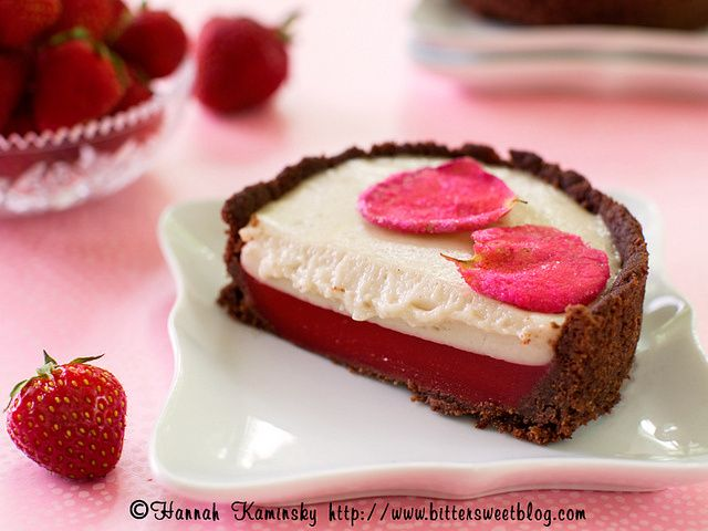 Strawberry and Rose Tartlettes
