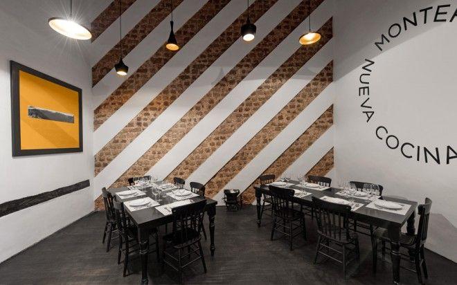 El montero restaurant interior design and branding anagrama
