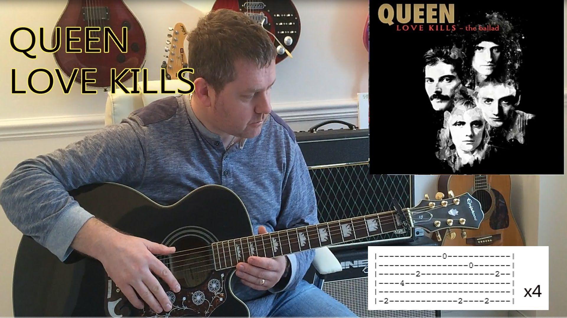 Love Kills The Ballad Queen Acoustic Guitar Tutorial Queen