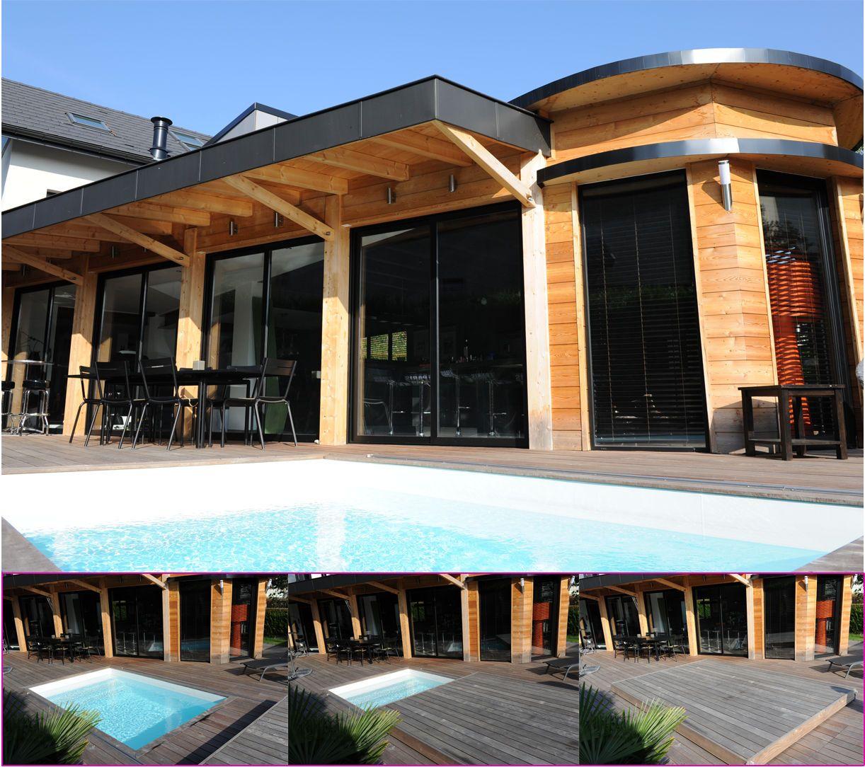 Une piscine Piscinelle équipée d\'un Rolling-Deck, véritable ...