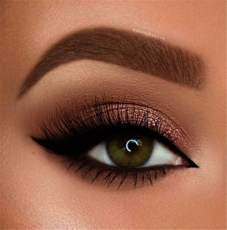 50 Gorgeous And Trendy Eye Makeup Ideas For Brown Eyes - Page 18 of 50 #browneyeshadow