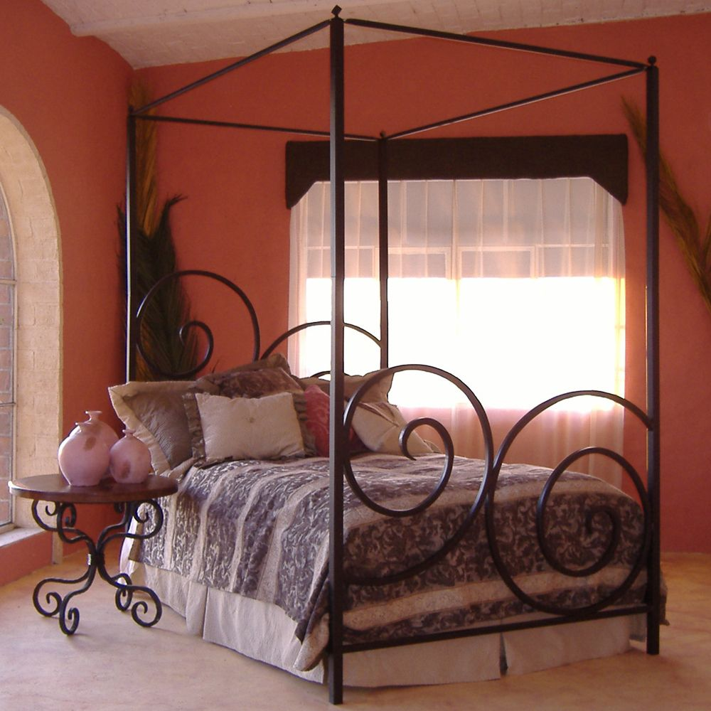 Alexander Wrought Iron Bed by Mathews & Company Wrought