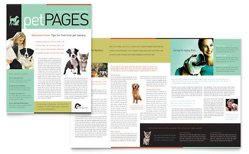 veterinary clinic newsletter template by stocklayouts download