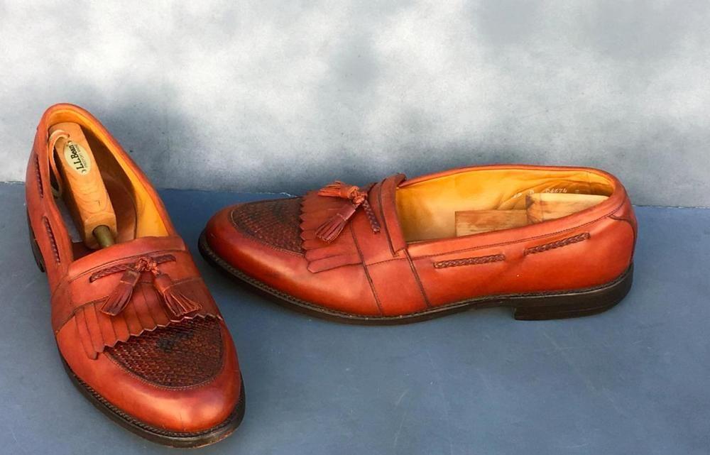 fa02c8d609cfa Allen Edmonds Mens Brown Cody Tassel Kiltie Loafers Size~15 D~Good ...
