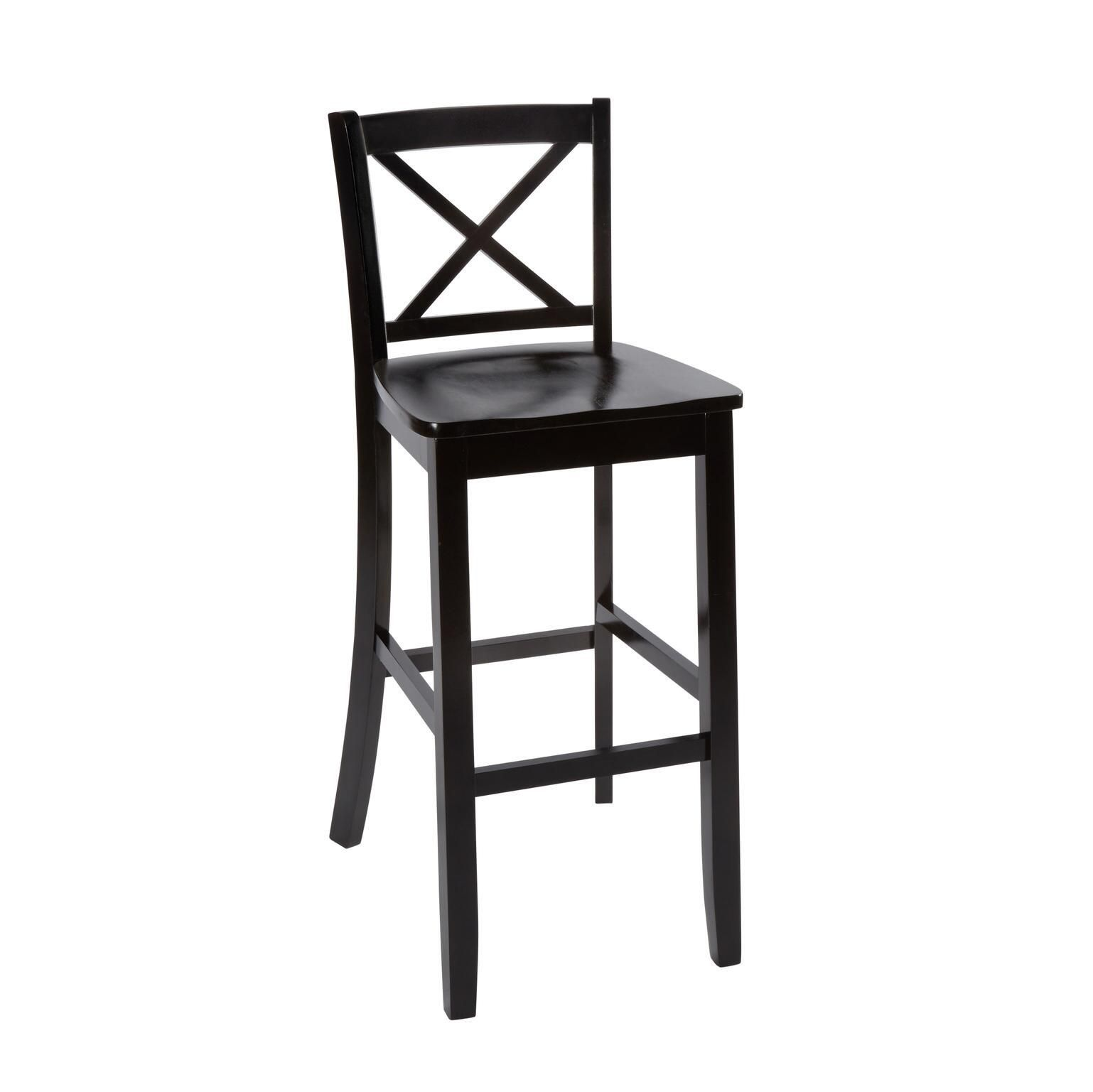 Cool 30 Black X Back Wood Barstool Barstool Wood Black Gmtry Best Dining Table And Chair Ideas Images Gmtryco