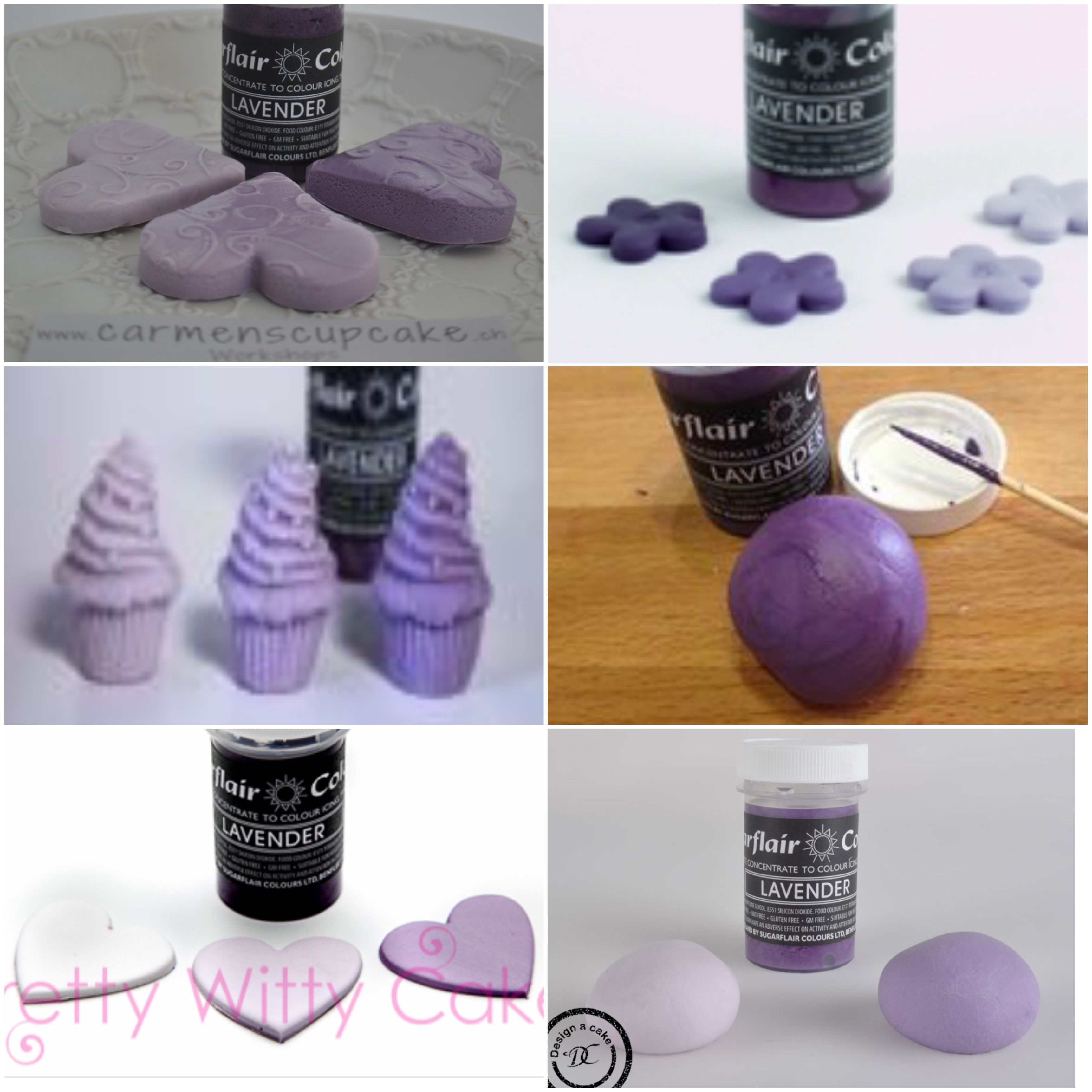 Sugarflair lavender | sugarflair colour | Food, Birthday Cake, Desserts
