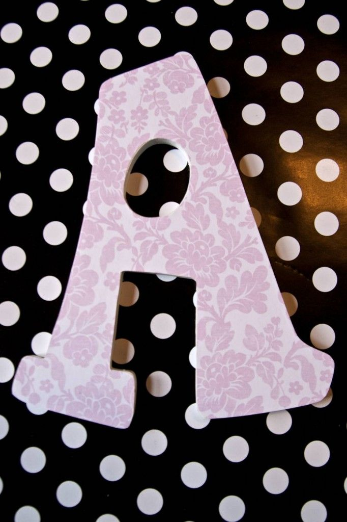 How to Decoupage Letters