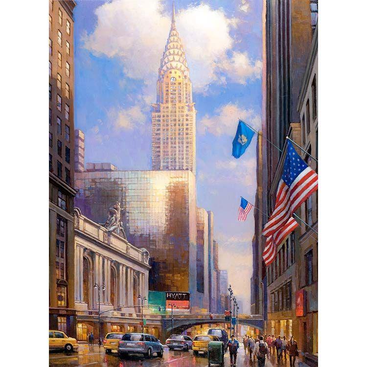 Chrysler Building Building Painting Chrysler Building