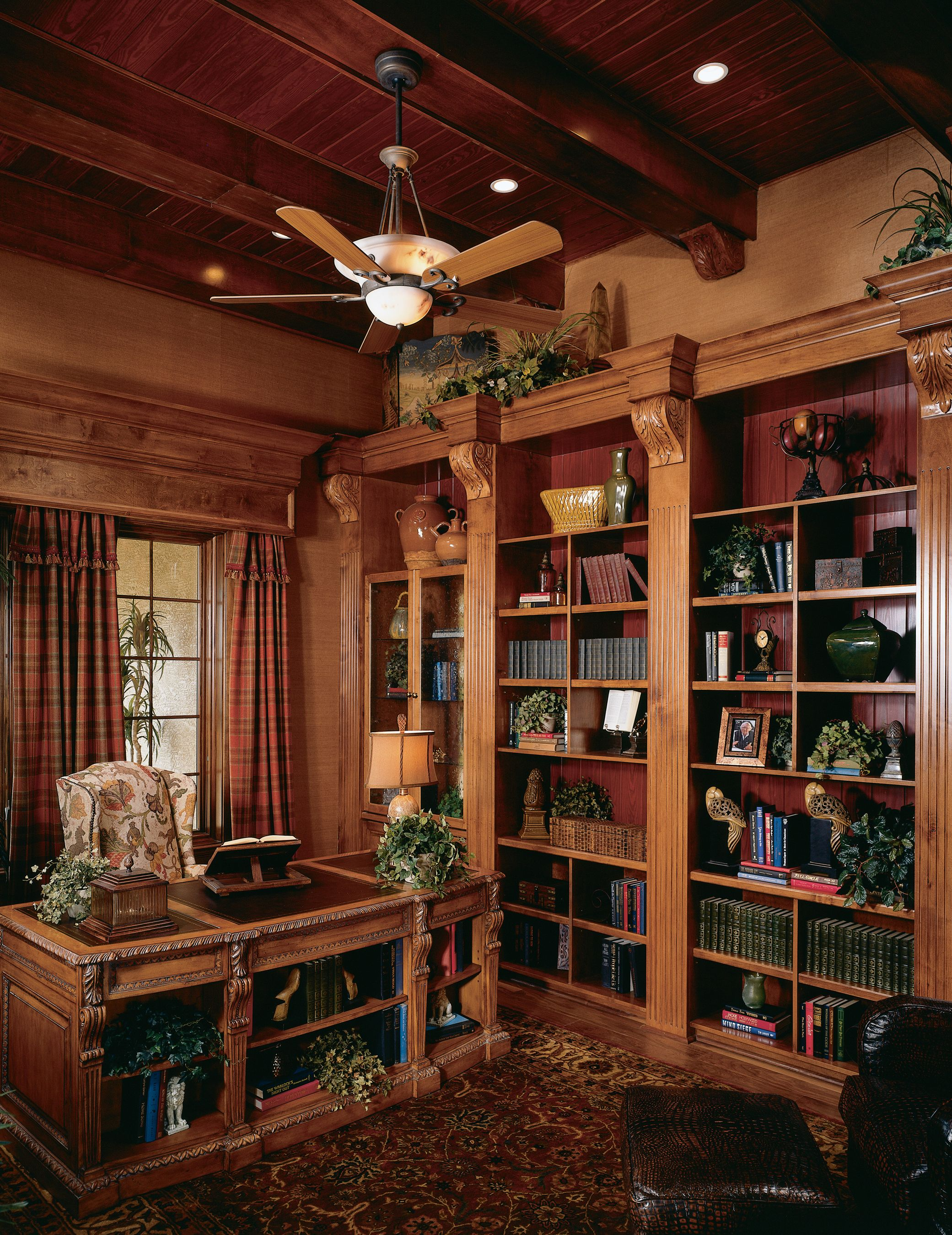Luxury Home Library Design: Go Old School With A Formal Library In Your Office! This