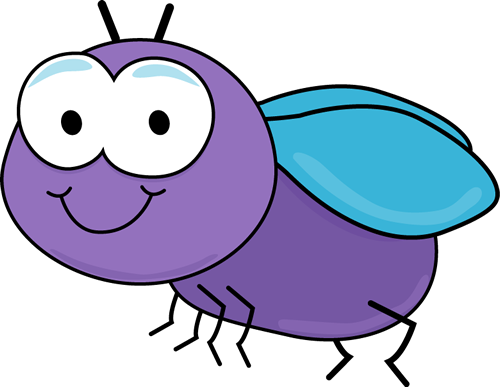 Cute Car Clip Art | Cute Fly Clip Art Image - cute purple fly with cartoon eyes and blue ...