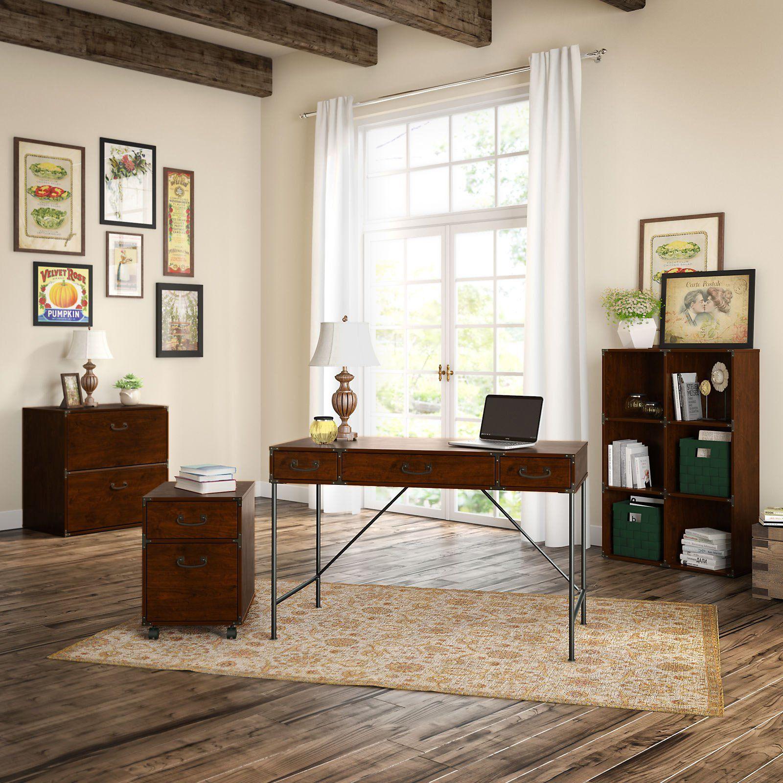 kathy ireland by Bush Furniture Ironworks 4 Piece Home ...