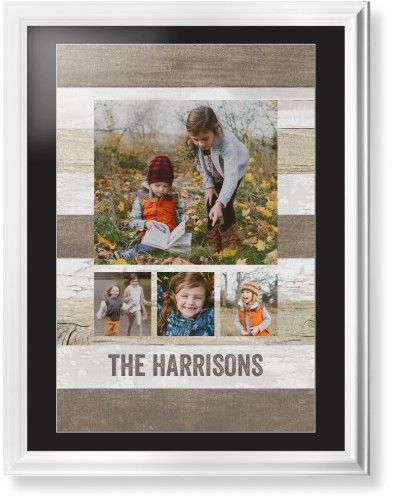 Collage of Four Framed Print, White, Classic, White, Black, Single piece, 24 x 36 inches