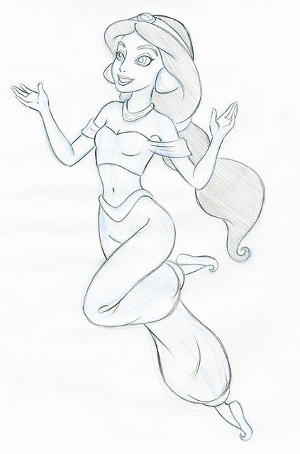 Princess jasmine sketches jasmine sketch flickr photo sharing