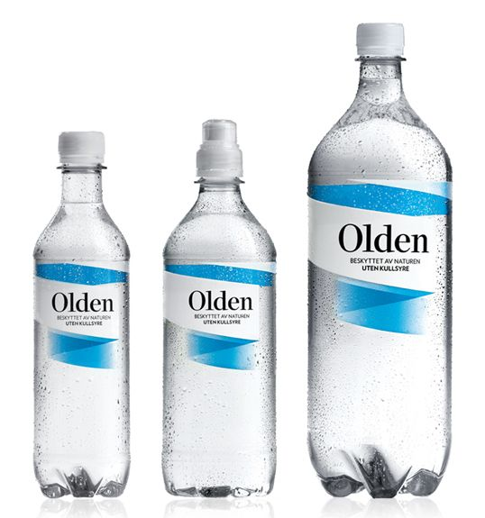 Olden Is A 100 Clean Mineral Water That Has Been Protected By Nature Through Thousands Of Years Water Bottle Label Design Water Packaging Mineral Water Bottle