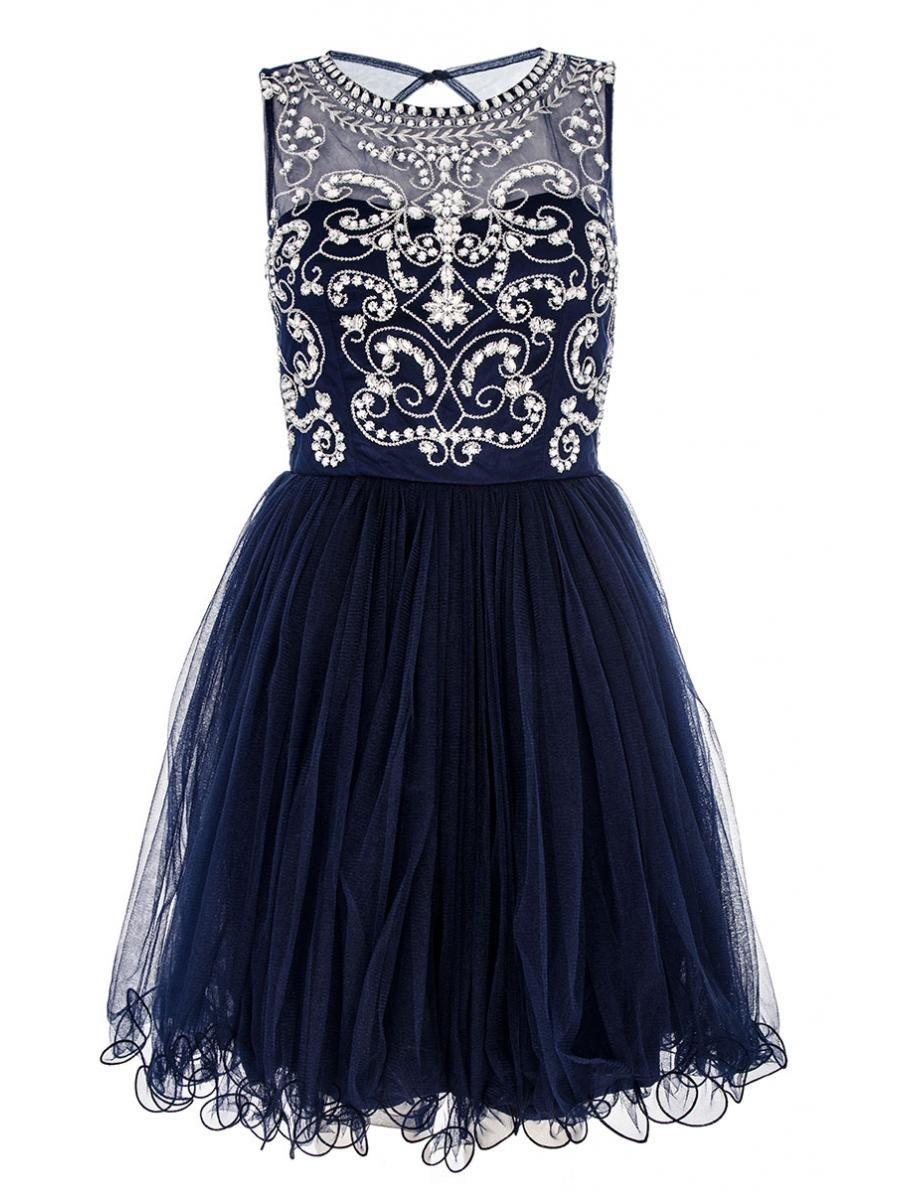 Navy mesh diamante prom dress quiz clothing wearings and usings