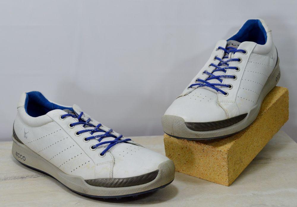 756c6b89525f Ecco Biom Yak Hydromax Spikeless White Leather Golf Shoes 45 US Mens  11-11.5 M  ECCO