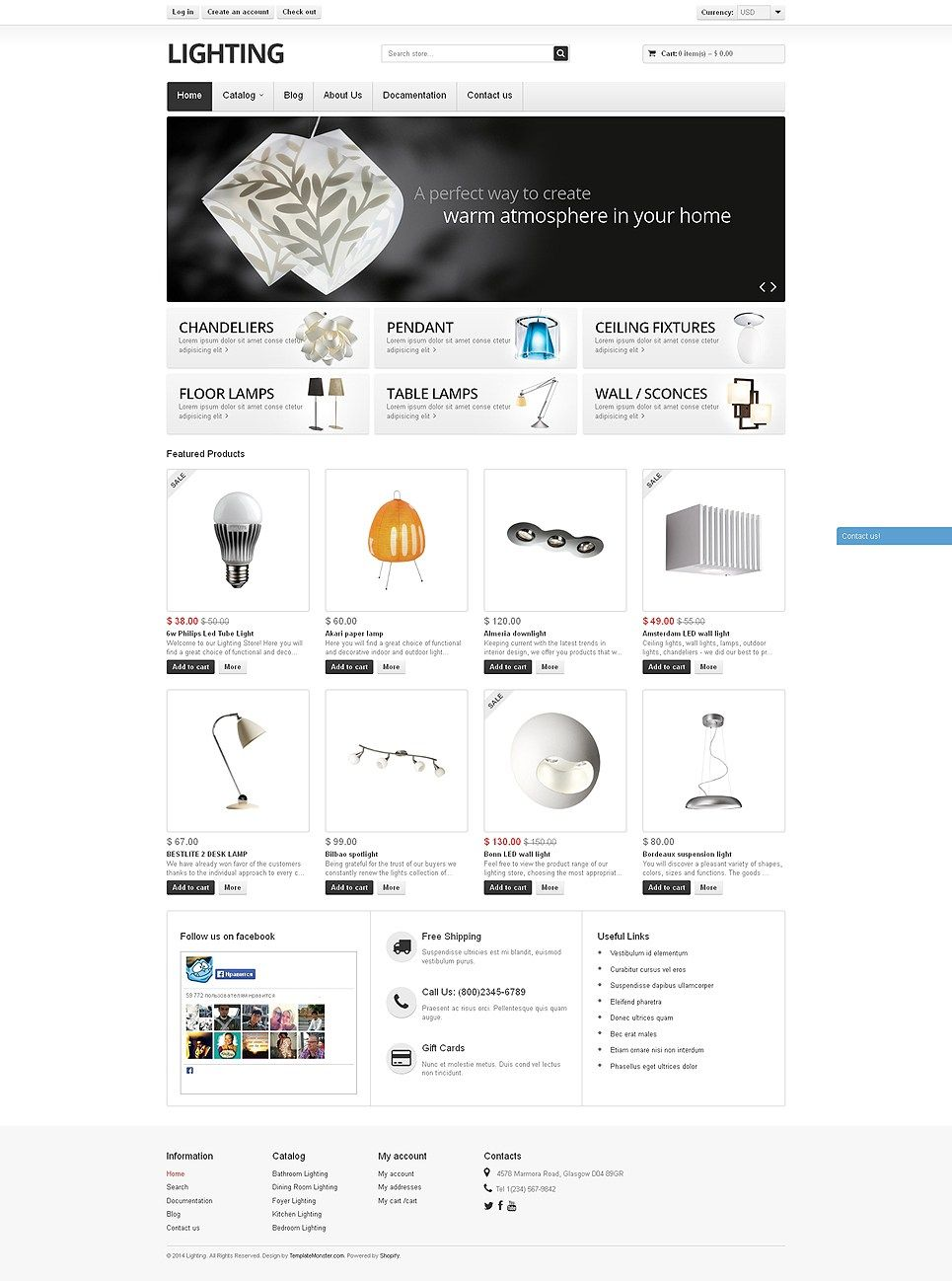 Awesome Home Decoration Plumbing Flooring And Lighting Store Shopify Themes