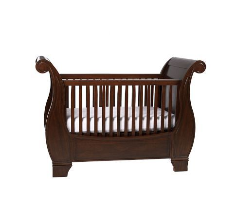 Larkin Fixed Gate Sleigh Crib Pottery Barn Larkin Pottery Barn Kids Larkin Crib
