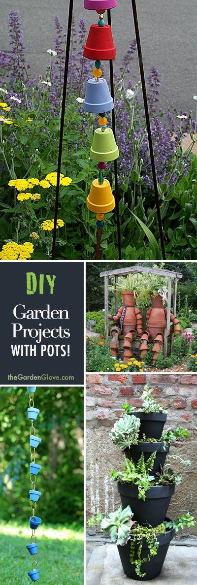 Backyard Garden Tutorial : Garden projects with pots tgg diy ideas