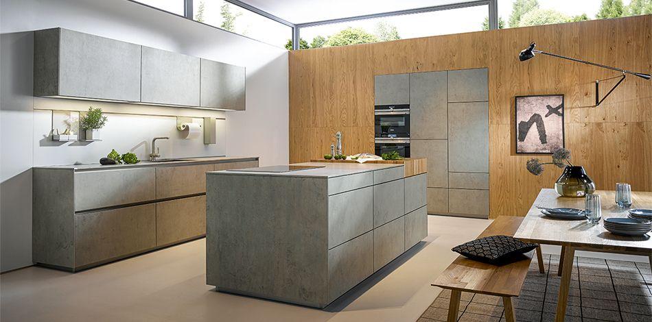 next125 - NX 950 Ceramic beton grau Nachbildung kitchen - schüller küchen arbeitsplatten