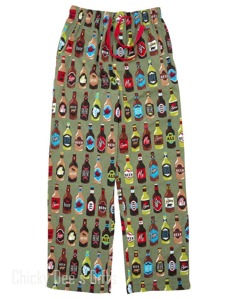 Hatley Men s Flannel Pajama PJ Lounge Pants BEER BOTTLES PJ Father s ... 997358dd7