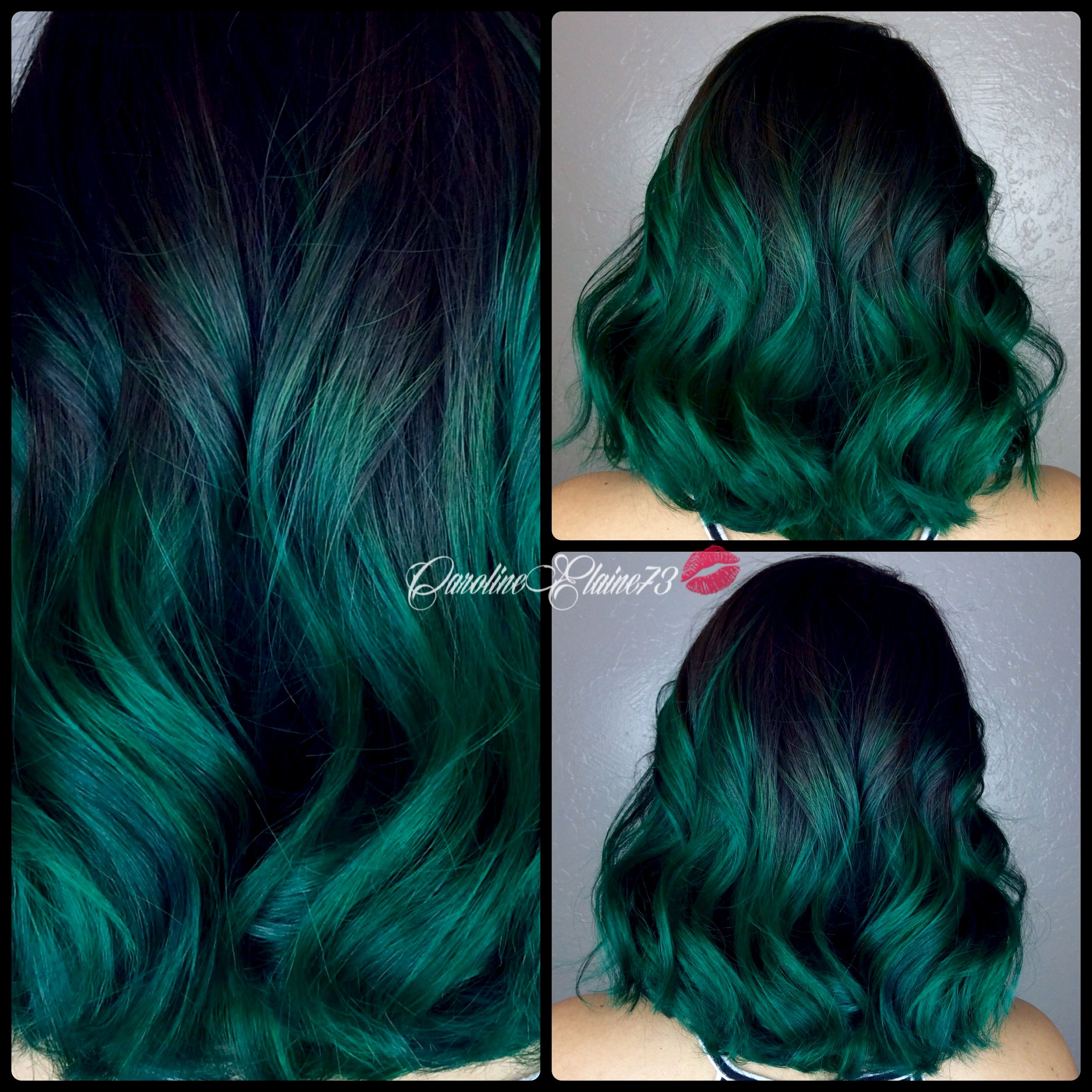 Emerald green hair hairdare  Hair Dare Flying Colors