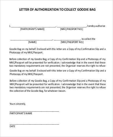 authorization letter collect sample home technology education more - letter of authorization letter