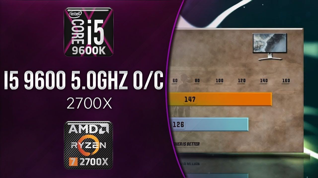 Overclocking i5 9600K 5 0 Ghz vs 2700X Benchmarks | 13 Tests