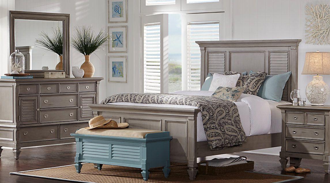 Belmar Gray 5 PC Queen Panel Bedroom 5Pc. set includes