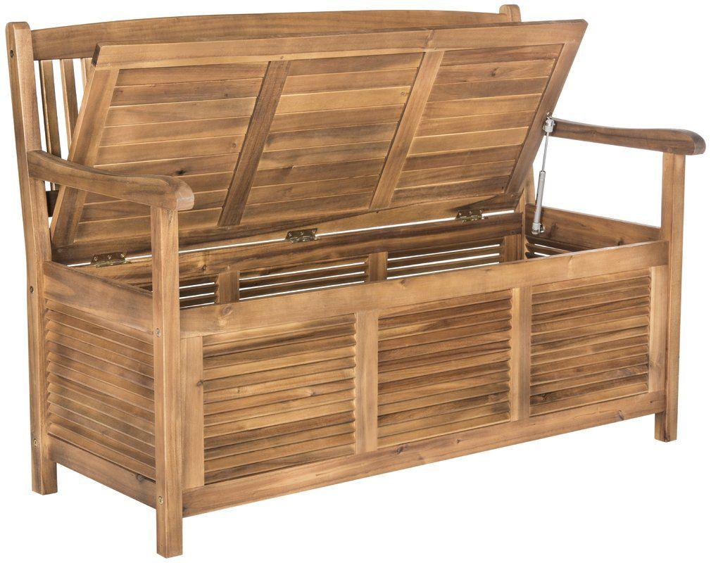 Brisbane Wooden Storage Bench Wooden Storage Bench Outdoor