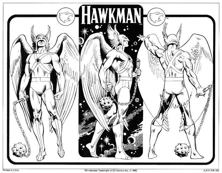Hawkman by José Luis García-López from the 1982 DC Comics Style Guide