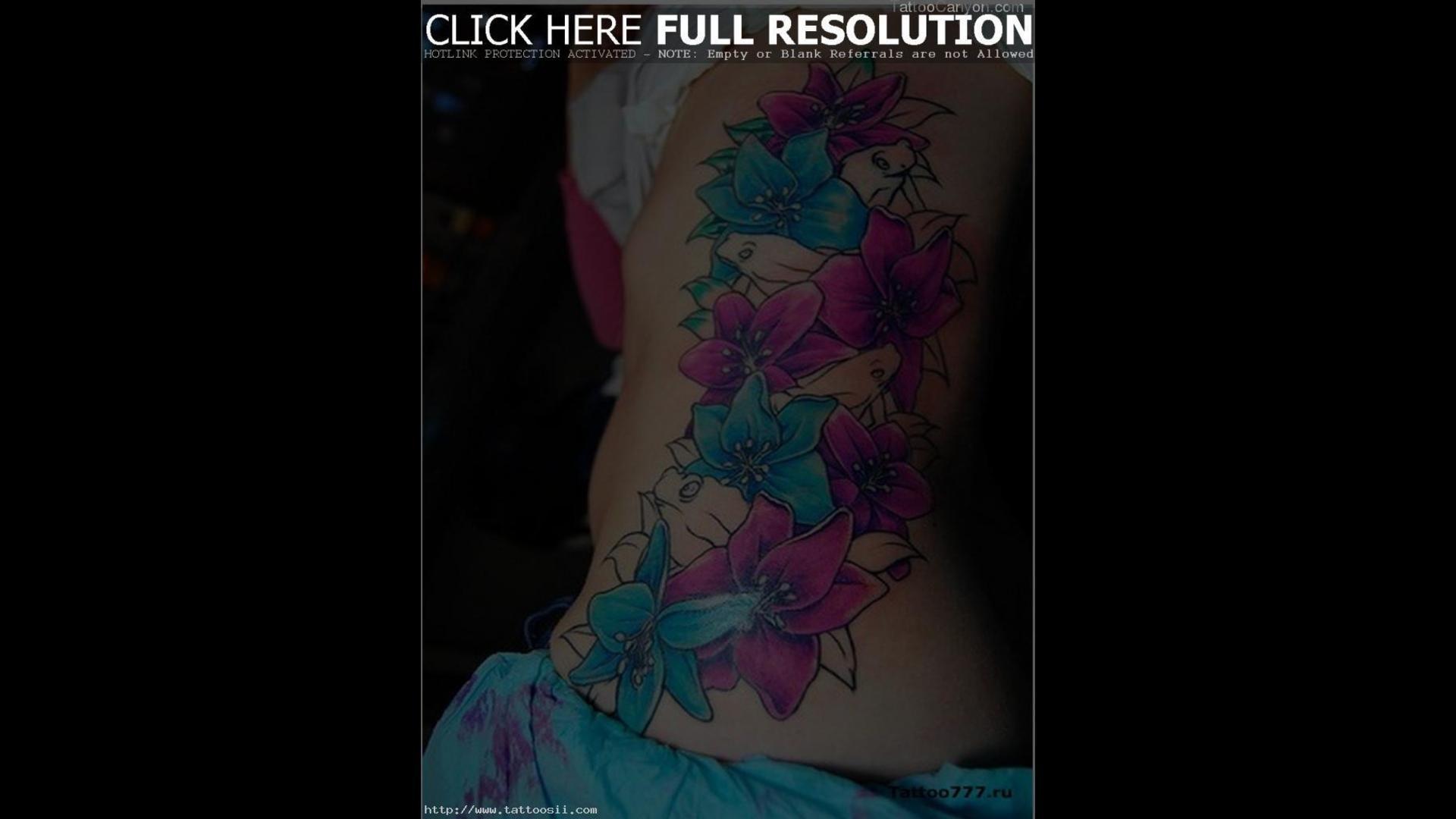 8432 And Butterfly Tattoo Hawaiian Flower Tattoos Designs Tattoo