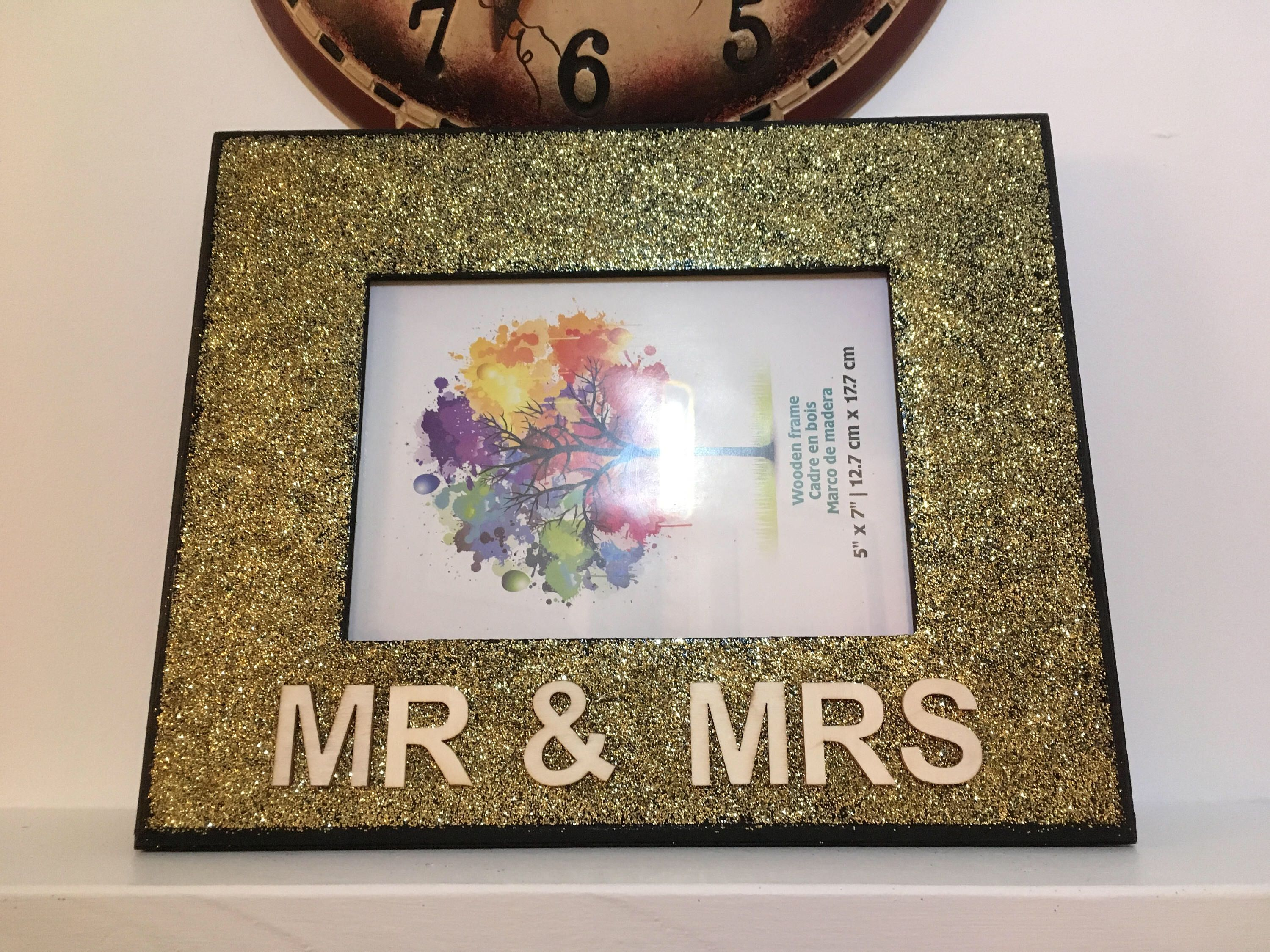 Handmade Frame Display Mr And Mrs Letter Art Rustic Rugged